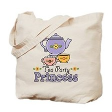Tea Party Princess Tote Bag