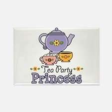 Tea Party Princess Rectangle Magnet