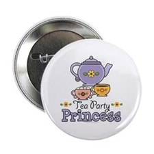 "Tea Party Princess 2.25"" Button"