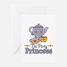 Tea Party Princess Greeting Card