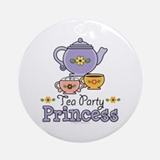 Tea Party Princess Ornament (Round)