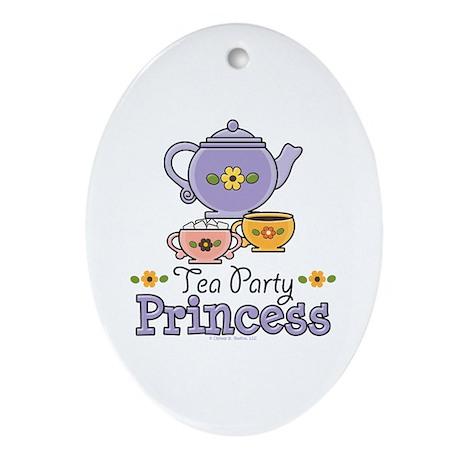 Tea Party Princess Oval Ornament
