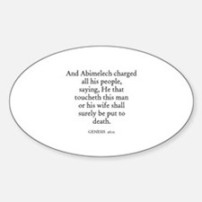 GENESIS 26:11 Oval Decal
