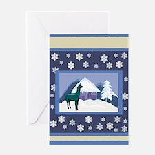 Snowflake Alpaca Greeting Card