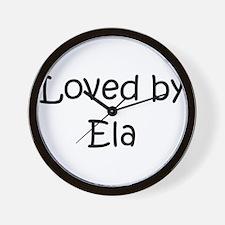 Cool Named ela Wall Clock