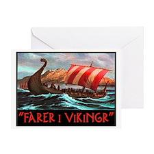 FARER I VIKINGR Greeting Card
