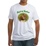 Squirrel Hunter Fitted T-Shirt