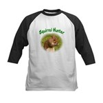 Squirrel Hunter Kids Baseball Jersey