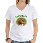 Squirrel Hunter Women's V-Neck T-Shirt