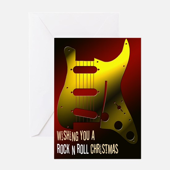 Rock n Roll Guitar Christmas Greeting Card