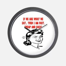 IF WE ARE WHAT WE EAT Wall Clock