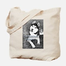 Unique Siberian husky dog Tote Bag