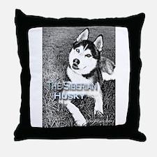 Cute Siberian husky photo Throw Pillow