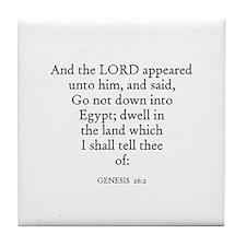 GENESIS  26:2 Tile Coaster
