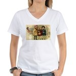 Ice Skate Christmas Women's V-Neck T-Shirt