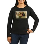 Ice Skate Christmas Women's Long Sleeve Dark T-Shi