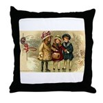 Ice Skate Christmas Throw Pillow