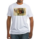Ice Skate Christmas Fitted T-Shirt
