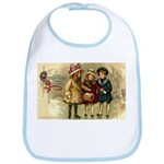 Ice Skate Christmas Bib