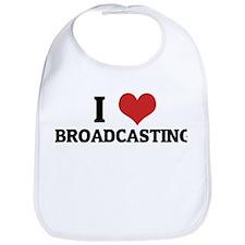 I Love Broadcasting Bib
