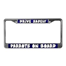 Parrots On Board License Plate Frame