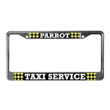 Parrot Taxi Service License Plate Frame