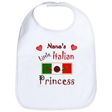 Nana's Little Princess-Red-1 Bib