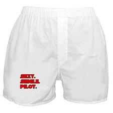 """Sexy. Single. Pilot."" Boxer Shorts"