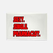 """Sexy. Single. Pharmacist."" Rectangle Magnet"
