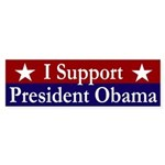 I Support President Obama bumper sticker