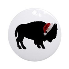 Buffalo Christmas Ornament (Round)
