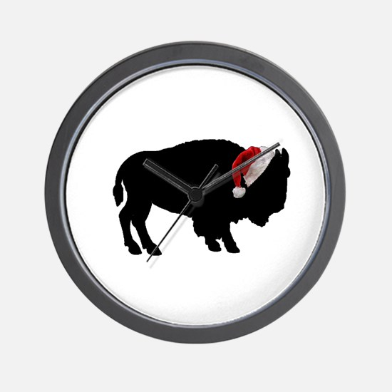 Buffalo Christmas Wall Clock