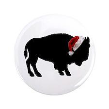 """Buffalo Christmas 3.5"""" Button"""