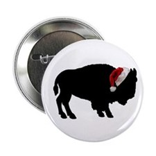 "Buffalo Christmas 2.25"" Button"