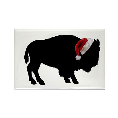 Buffalo Christmas Rectangle Magnet
