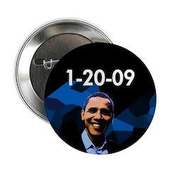 """1-20-09 Obama 2.25"""" Button"""