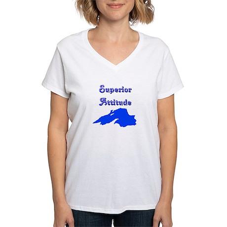 superior attitude Women's V-Neck T-Shirt