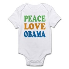 Peace Love Obama Infant Bodysuit