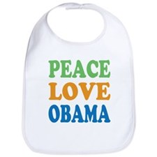 Peace Love Obama Bib