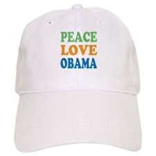 Peace Love Obama Baseball Cap