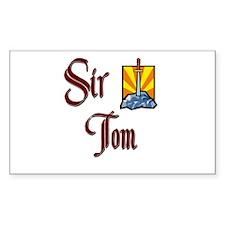 Sir Tom Rectangle Decal