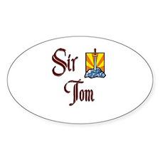 Sir Tom Oval Decal