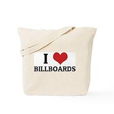 I Love Billboards Tote Bag