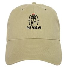 Fish Fear Me Pirate & Fish Baseball Cap
