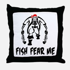 Fish Fear Me Pirate & Fish Throw Pillow