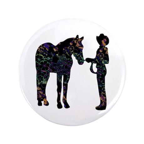 """Halter/Showmanship Floral 3.5"""" Button (100 pack)"""