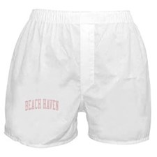 Beach Haven New Jersey NJ Pink Boxer Shorts