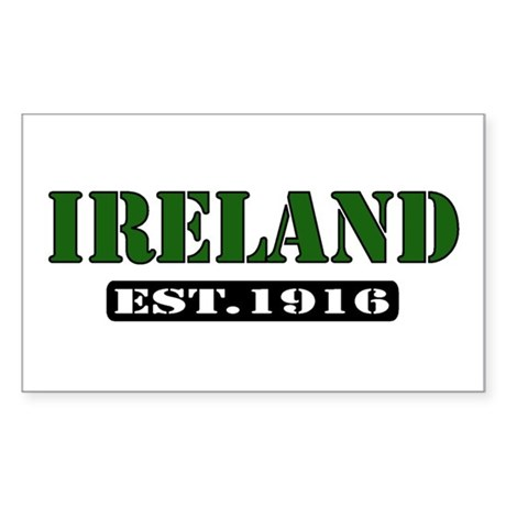 """IRELAND Est. 1916"" Rectangle Sticker"