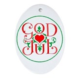 God jul Oval Ornaments