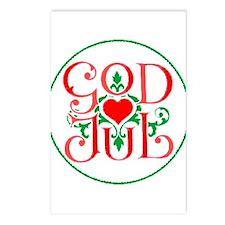 God Jul Postcards (Package of 8)